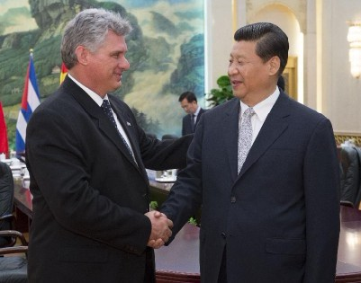 Chinese President Xi Jinping meets with Miguel Diaz-Canel
