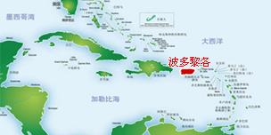 请点击查看大图,了解波多黎各在加勒比的位置