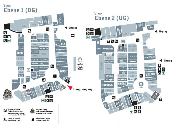购物中心地图!