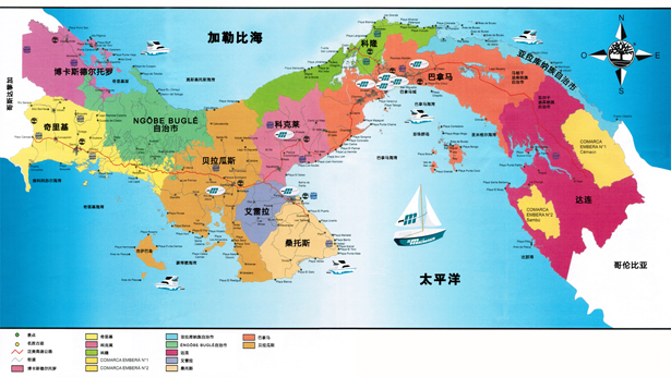 巴拿马国家地图