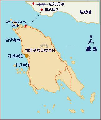 象岛地理位置图