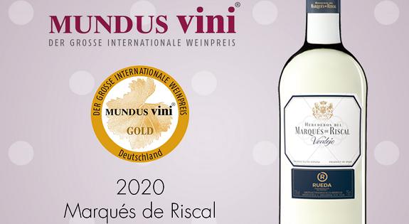 Marqués de Riscal Verdejo 2020 Gold Medal at Mundus Vini 2021