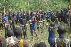 埃塞俄比亚Surma部落