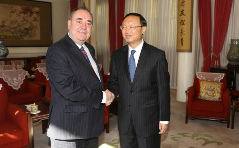 First Minister Alex Salmond meets State Councillor Yang Jiechi in Beijing