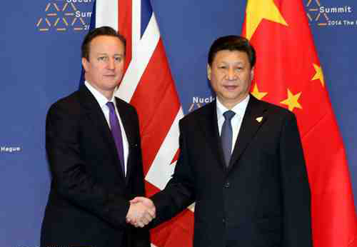 Xi Jinping Meets with UK Prime Minister David Cameron