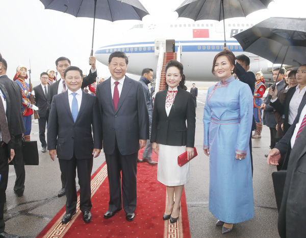 Chinese President Xi Jinping visits Mongolia