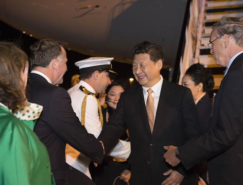 President Xi arrives in New Zealand for state visit