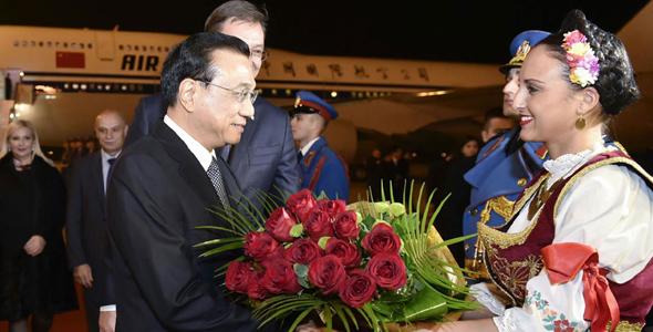 Li Keqiang visit Serbia