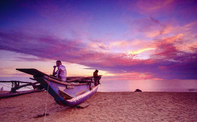 斯里兰卡自然风光优美的沙滩