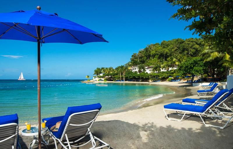 牙买加蒙特哥贝圆山别墅度假酒店私人海滩