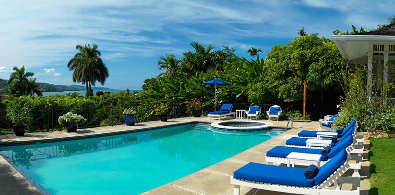 牙买加蒙特哥贝圆山别墅度假酒店室外游泳池