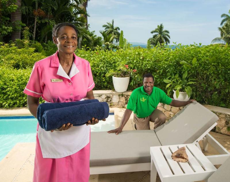 牙买加蒙特哥贝圆山别墅度假酒店服务