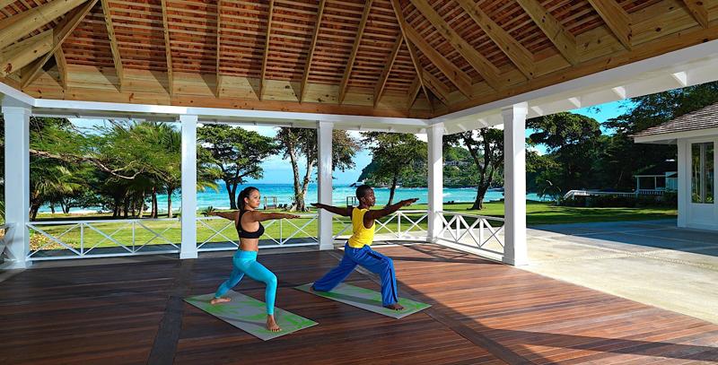 牙买加蒙特哥贝圆山别墅度假酒店瑜伽