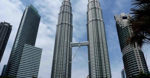 The Petronas Twin Towers in Kuala Lumpur Malaysia