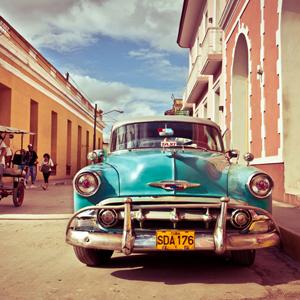 古巴老爷车