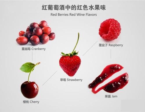红葡萄酒中的红色水果香