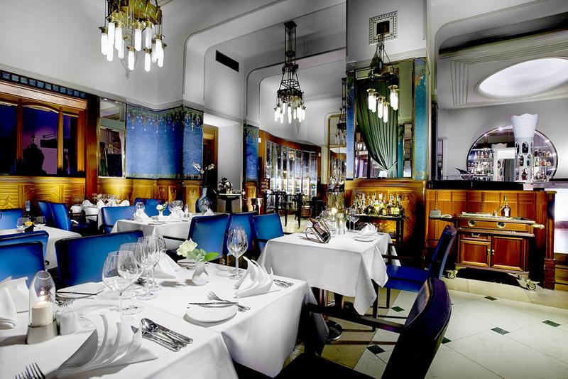 捷克布拉格巴黎大酒店客房莎拉·伯恩哈特餐厅