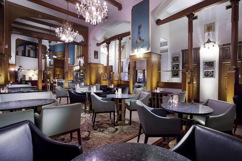 捷克布拉格巴黎大酒店客房巴黎咖啡馆