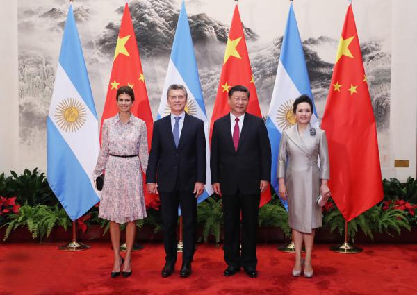 习近平主席会见阿根廷总统马克里