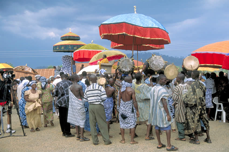 觐见加纳阿散蒂国王