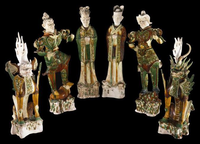 大英博物馆中国唐朝陶瓷雕塑
