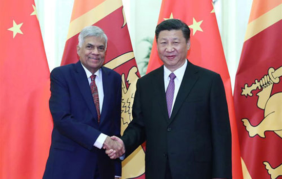 Xi Jinping Meets with Prime Minister Ranil Wickremesinghe of Sri Lanka