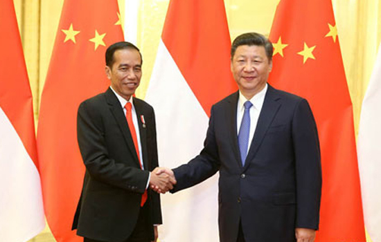 Xi Jinping Meets with President Joko Widodo of Indonesia