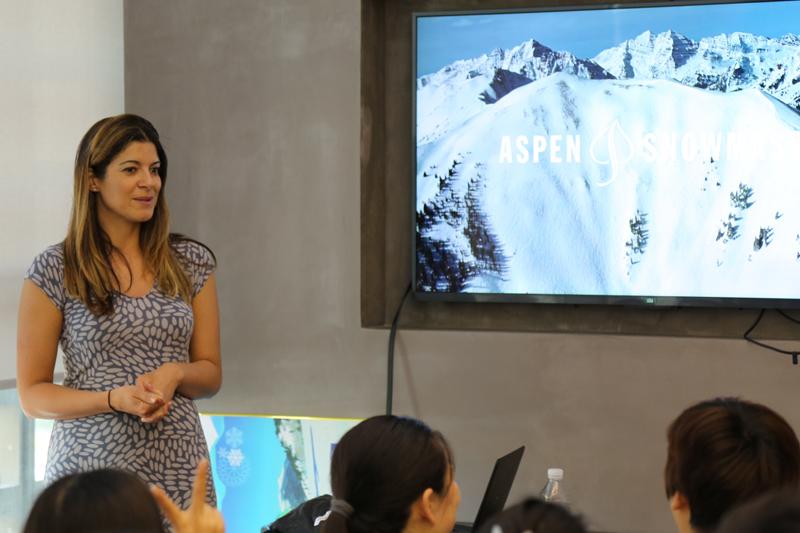 阿斯本雪堆山滑雪村销售市场经理Ms. Sonia Bekhaazi