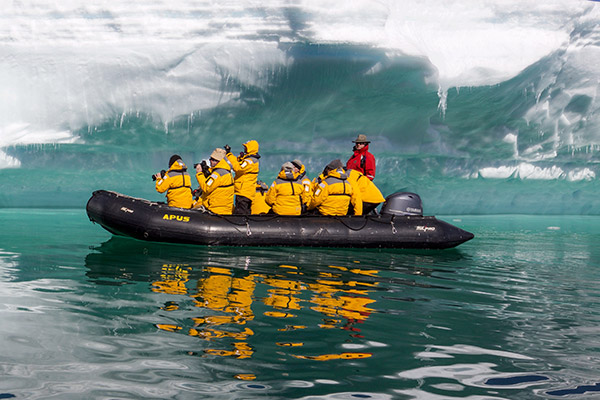 Visitors tour Antarctica