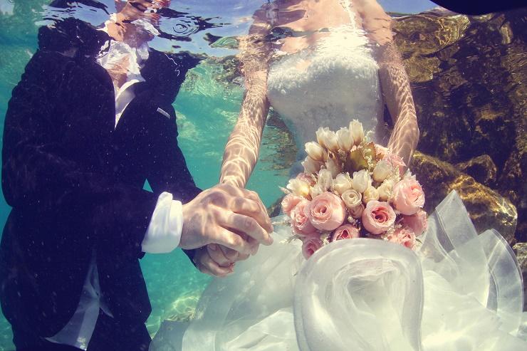 牙买加海底婚礼