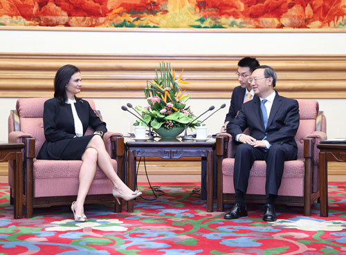 Yang Jiechi Meets with Vice President and Foreign Minister Isabel Saint Malo de Alvarado of Panama