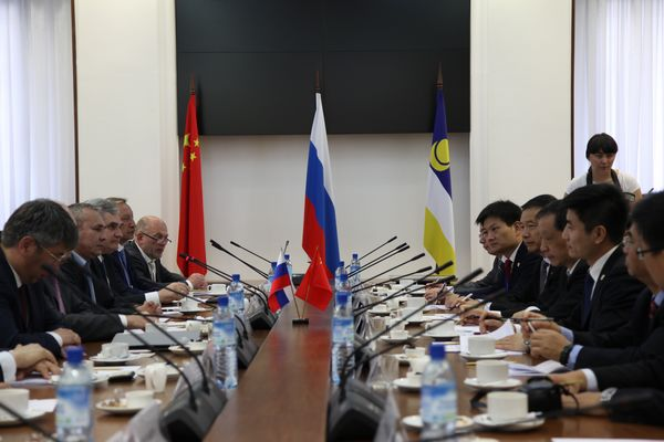 Li Jinzao Meets with Acting Head of the Republic of Buryatia, Russian Federation
