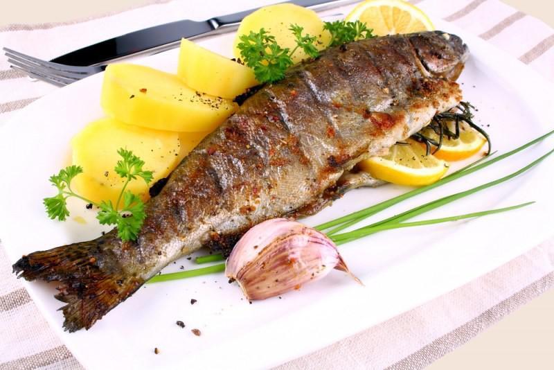 乌克兰美食外喀尔巴阡鳟鱼