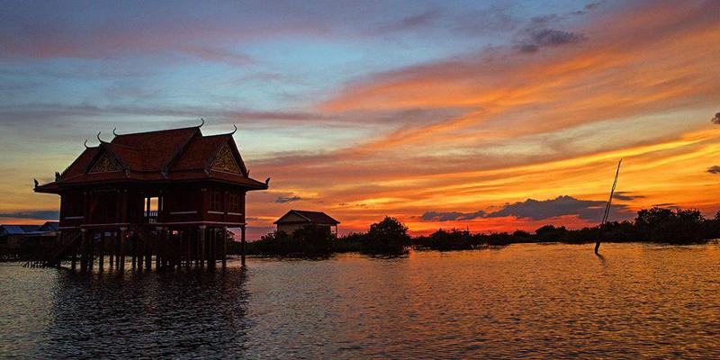 柬埔寨暹粒洞里萨湖