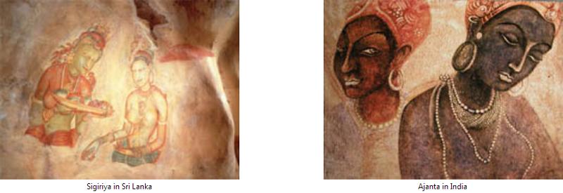斯里兰卡锡吉里耶壁画
