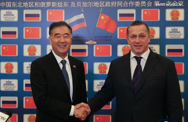 China, Russia vow to boost cooperation in Far Eastern development