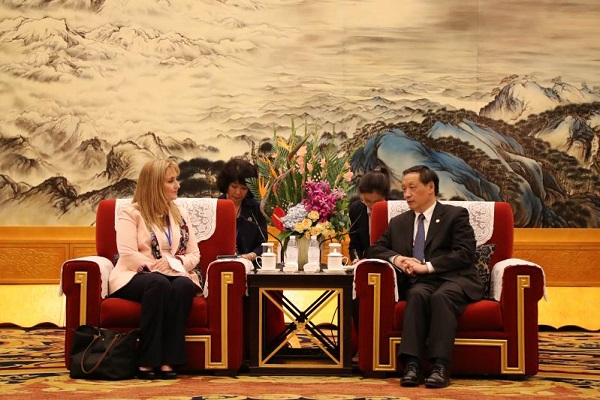 Li Jinzao Meets with WTTC President