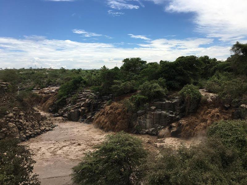 埃塞俄比亚阿瓦什国家公园瀑布