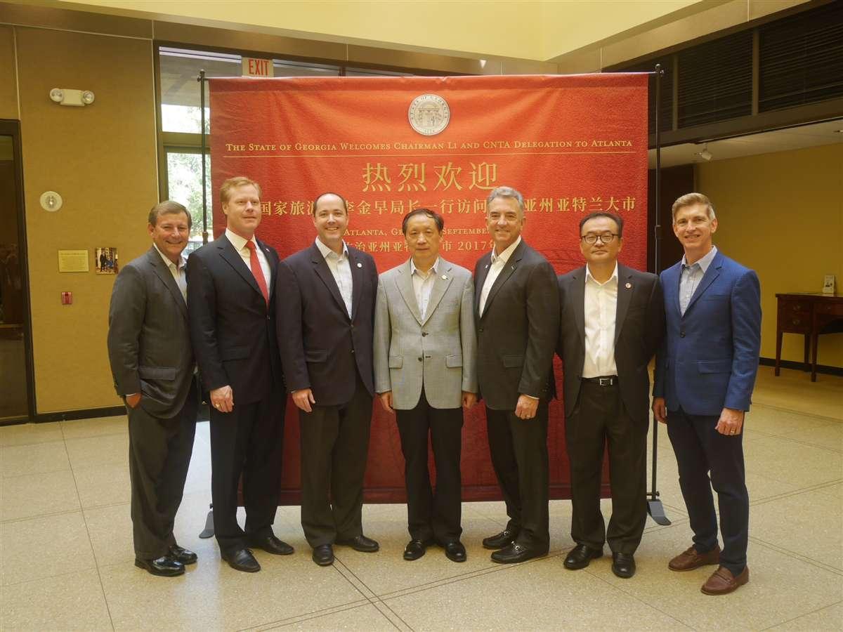 Li Jinzao Meets with Georgia's Attorney General and Atlanta's Business Representatives