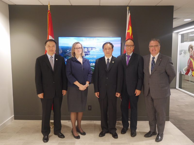 Li Jinzao Meets with Heads of Innovation, Science and Economic Development Canada and Destination Canada