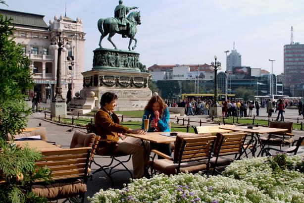 塞尔维亚贝尔格莱德共和广场