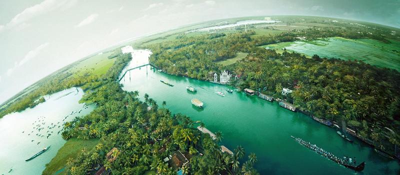 印度喀拉拉邦回水区