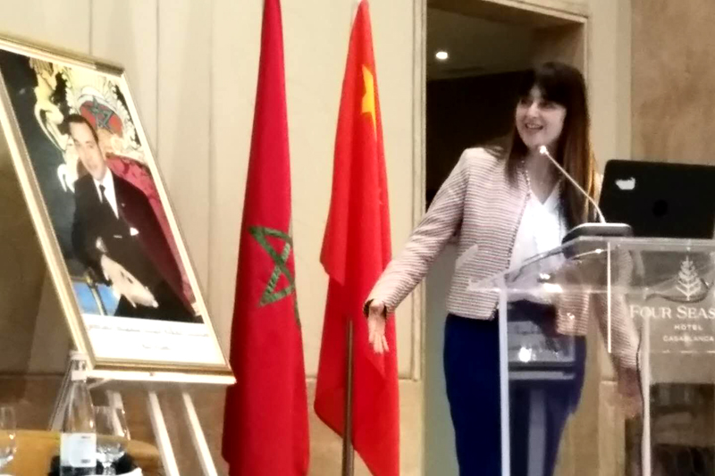 摩洛哥旅游部旅游事务国务秘书Ms. Lamia Boutaleb