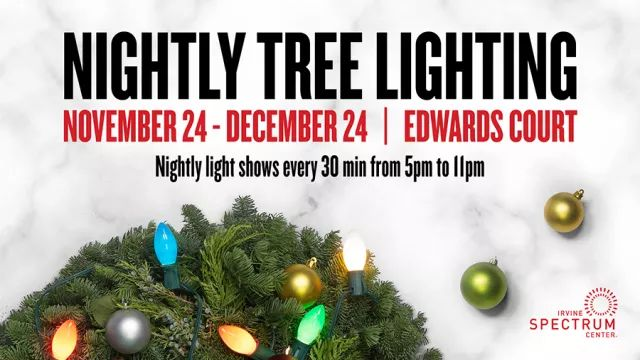Nightly Tree Lighting
