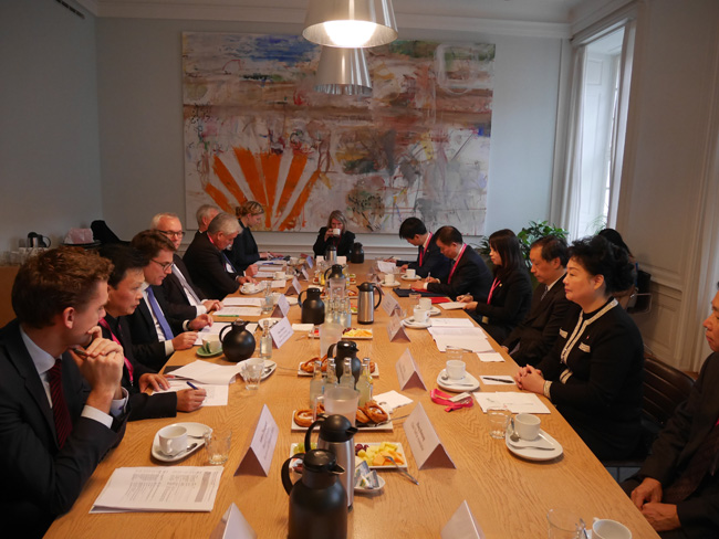 Li Jinzao Meets with Danish Minister of Industry, Business and Financial Affairs