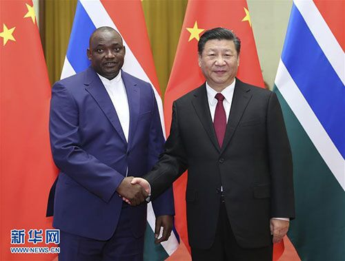 Xi Jinping Holds Talks with President Adama Barrow of Gambia
