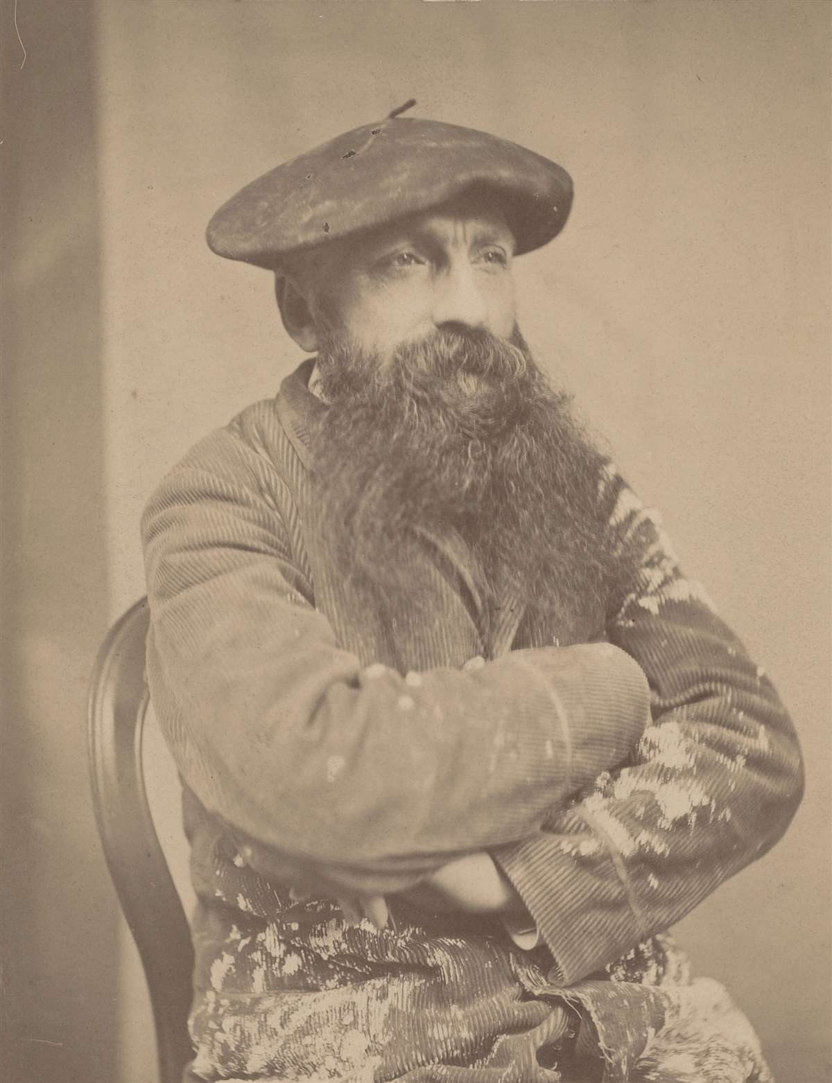 法国雕塑家奥古斯特·罗丹肖像