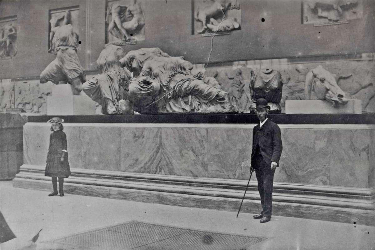 1890年伦敦大英博物馆帕特农神庙雕塑