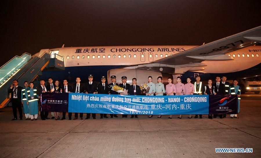 Direct flight links Chongqing, Hanoi