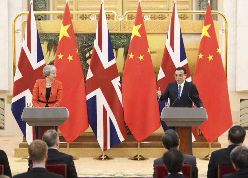 李克强会见英国首相特雷莎·梅